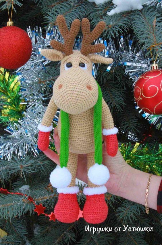 Amigurumi Reindeer Rudolf Free Pattern.