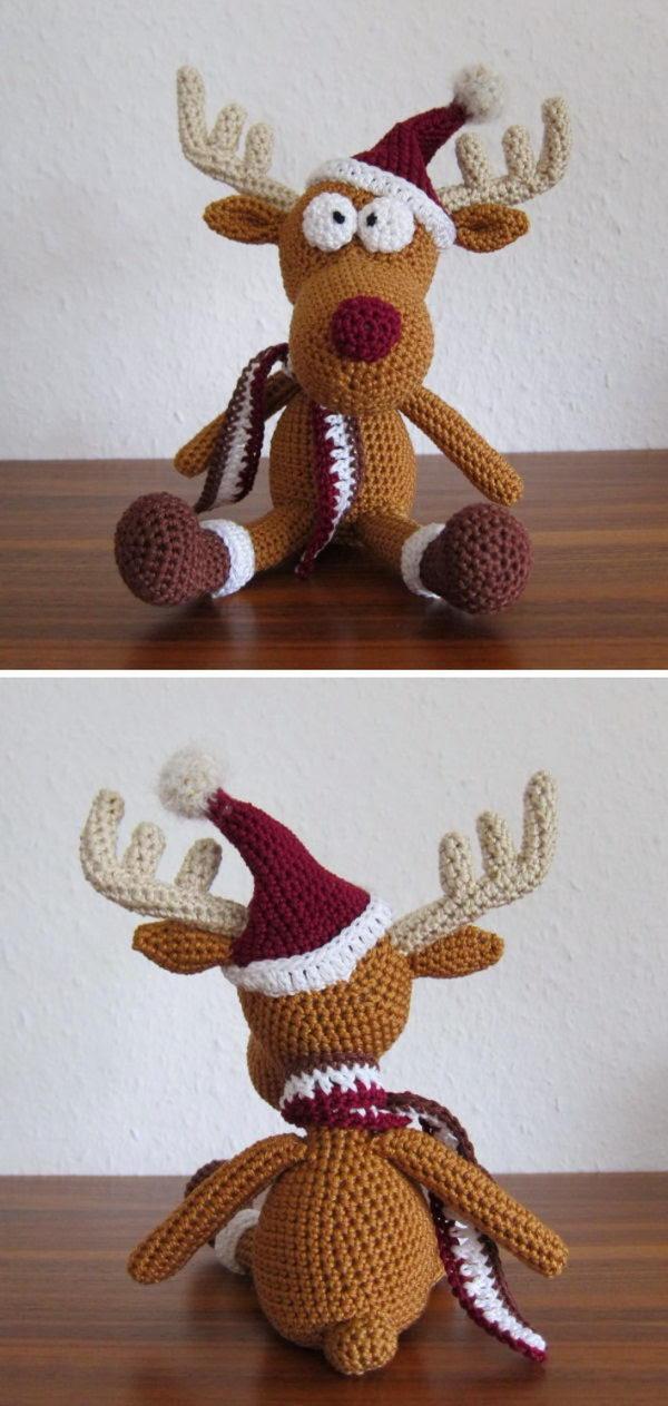 Tobi Christmas Deer In Hat.