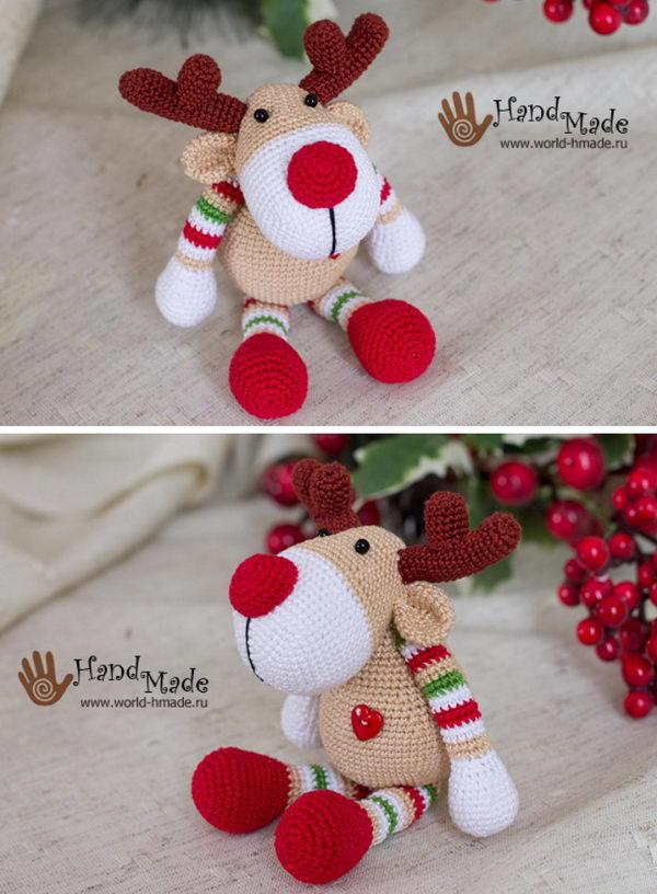New Year Reindeer Rudolph.