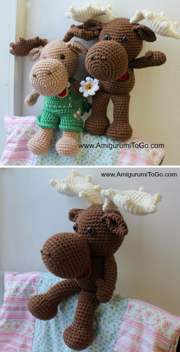 Large Crochet Moose.