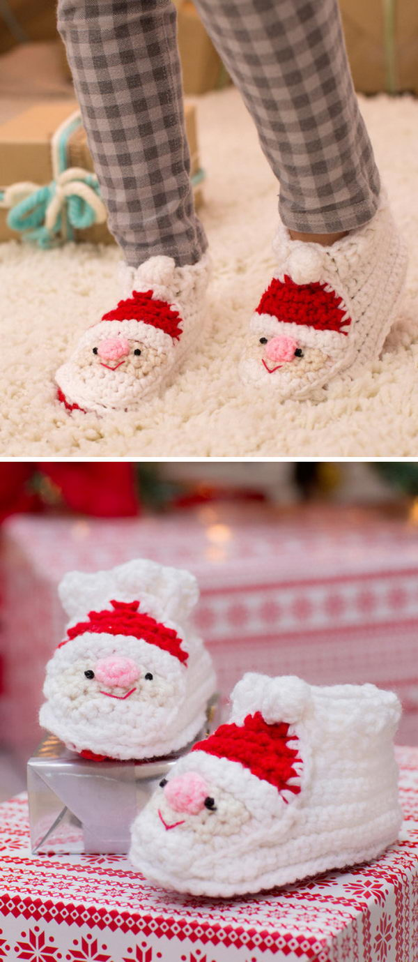 Child's Santa Slippers.