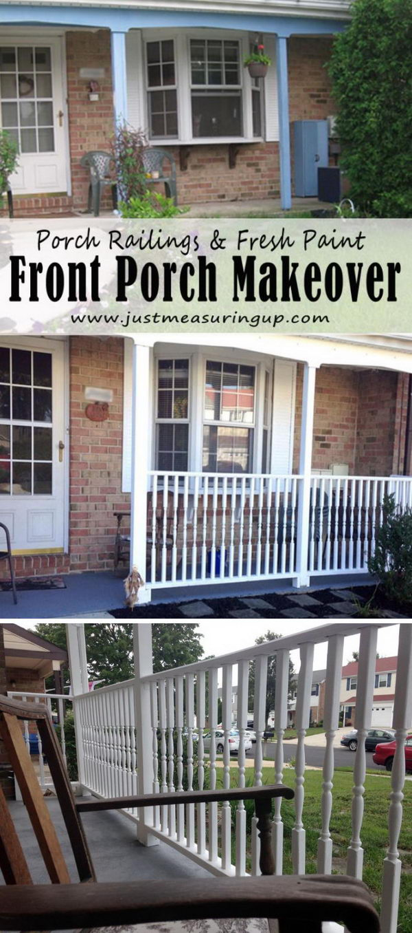 This Railing Is On A Porch Rather Than A Deck, But It Is Quite A Typical  Design. The Owner Took Advantage Of The Existing Columns And Connected  Them, ...