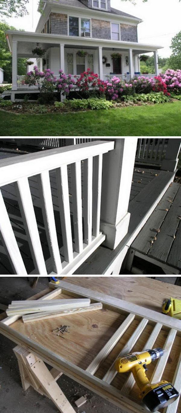 DIY Classic Look Porch Railings.