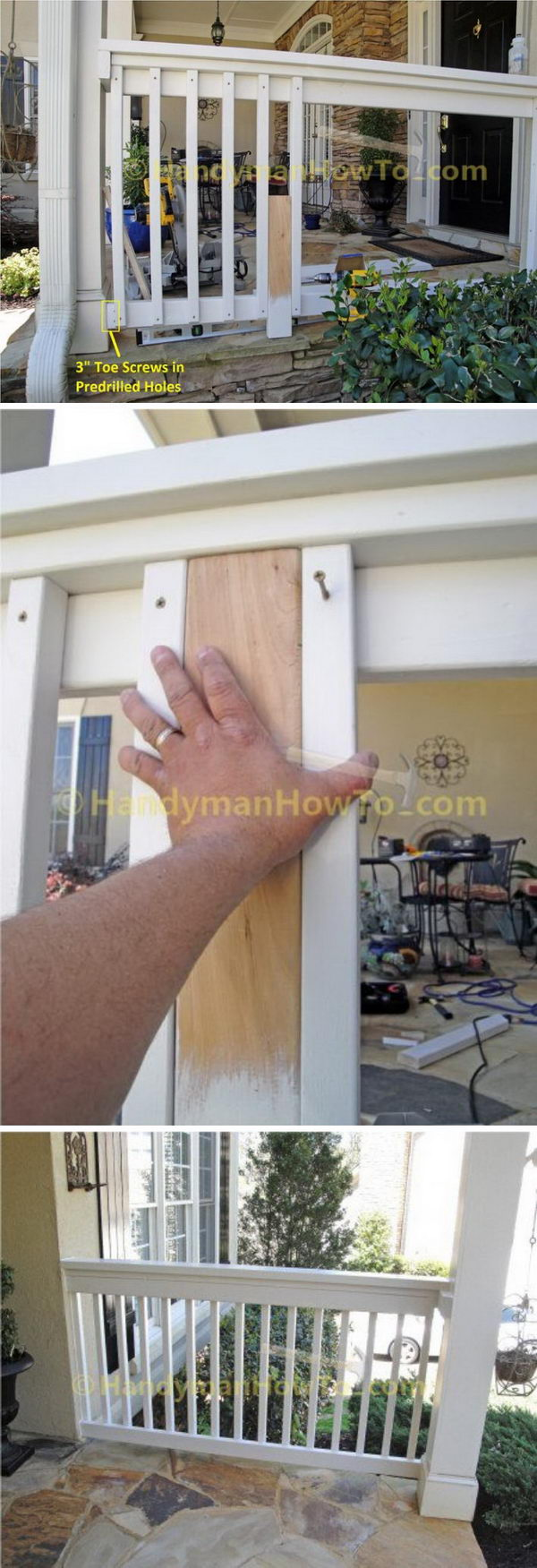 DIY Classic Porch Railing.