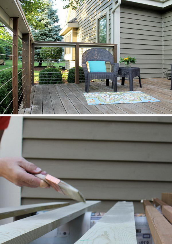 20+ DIY Deck Railing Ideas 2017