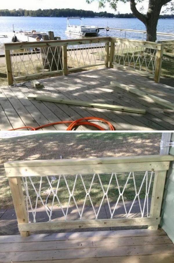 DIY Rope Railings.