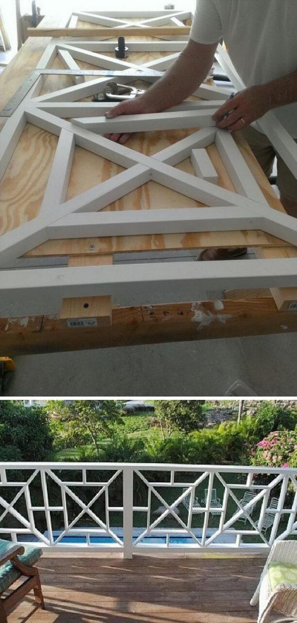 Cross Style Deck Railing.