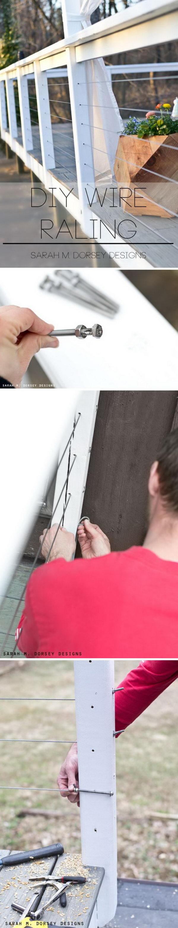 DIY Wire Railing.