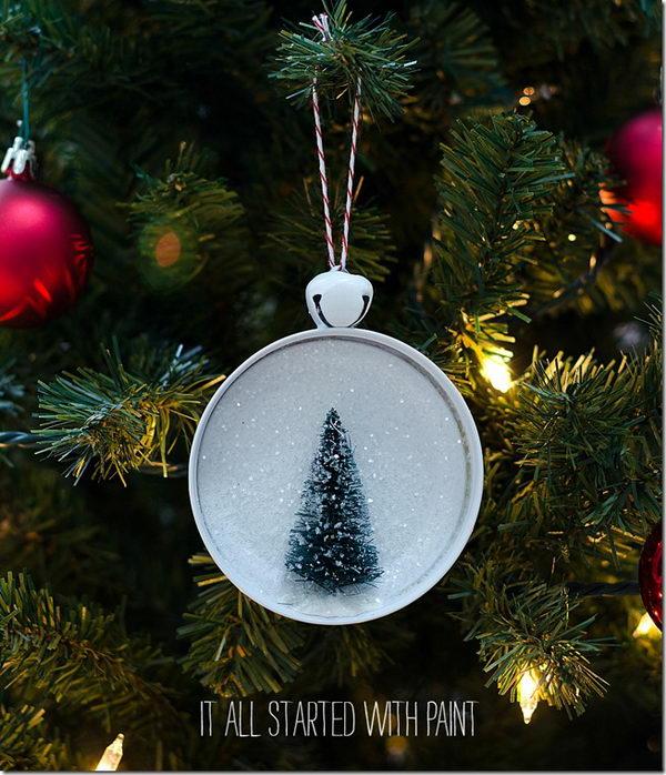DIY Bottle Brush Tree Ornament.