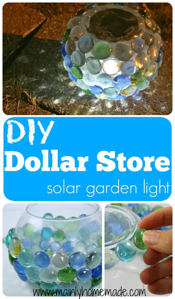 DIY Dolllar Store Solar Garden Globe Light.