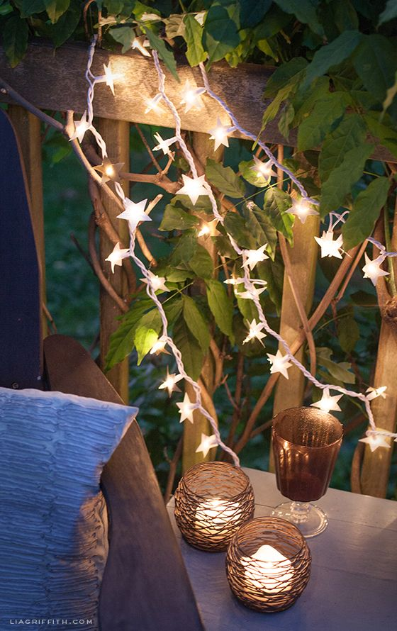 DIY Starry Lights.