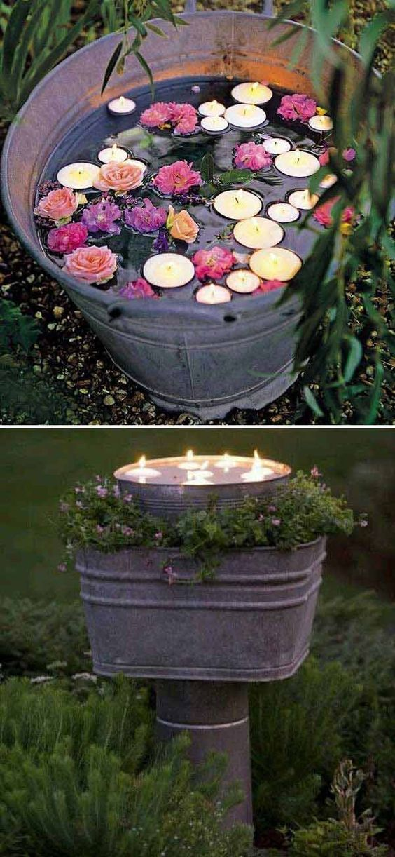 Floating Candles Bucket.