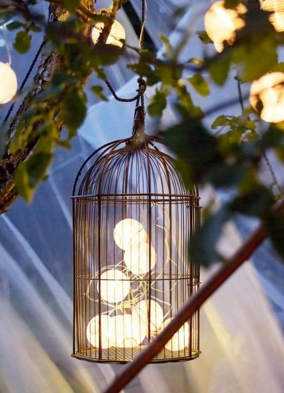 Creative Birdcage Light.