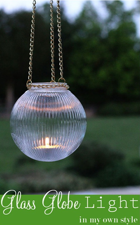 DIY Glass Globe Light.