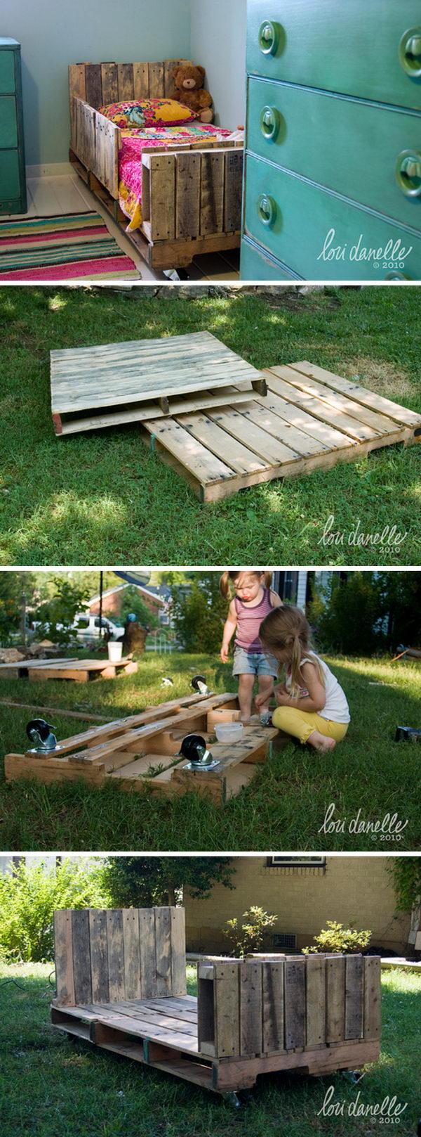 Toddler Pallet Bed.