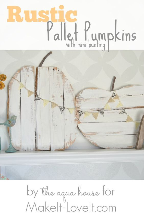 DIY Rustic Pallet Pumpkins.