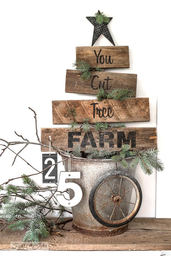 Pallet wood You Cut Tree Farm Christmas sign.
