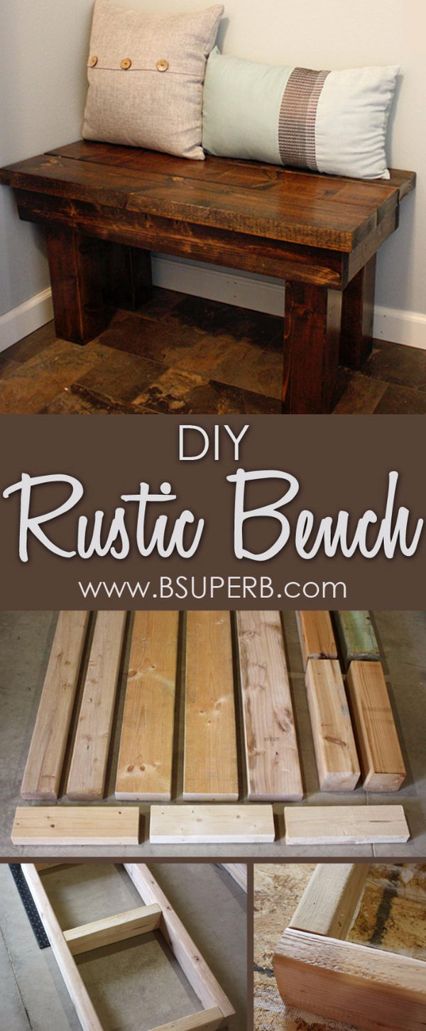 DIY Rustic Bench.