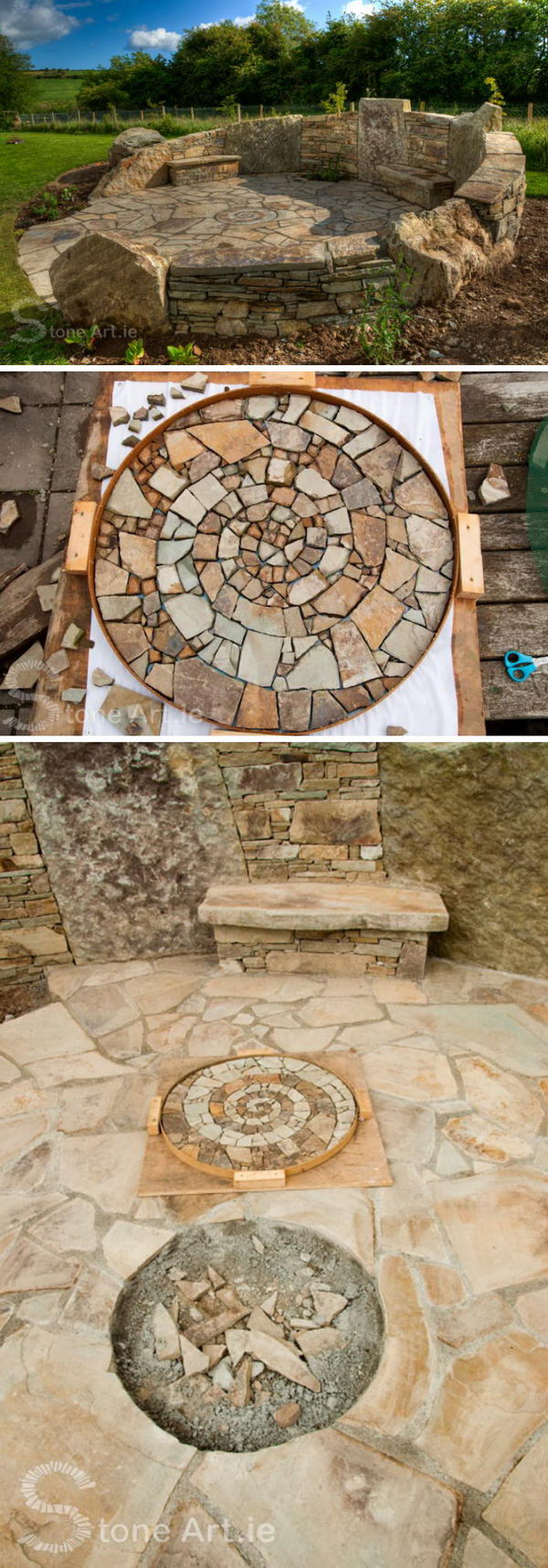 Mosaic Stone Patio.
