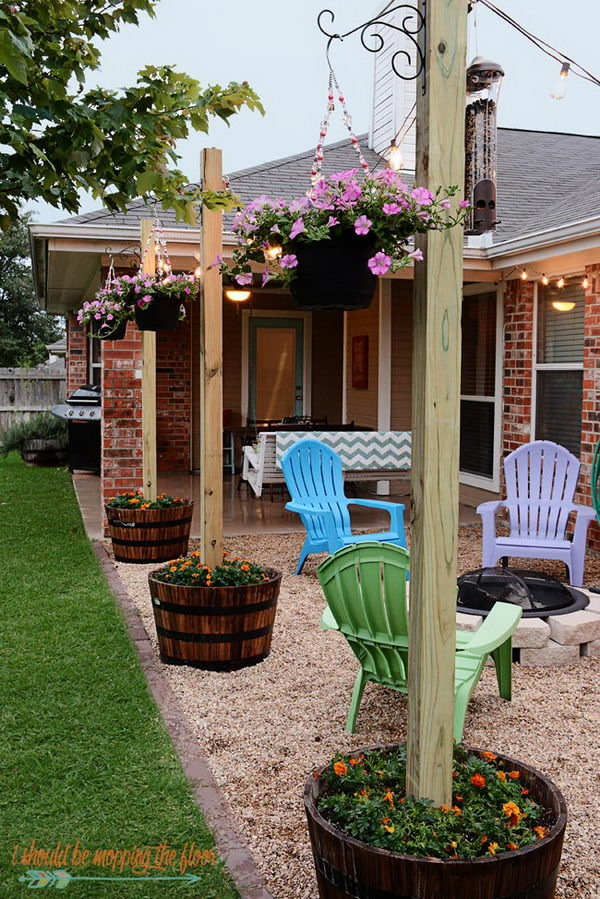 DIY Pea Gravel Patio.