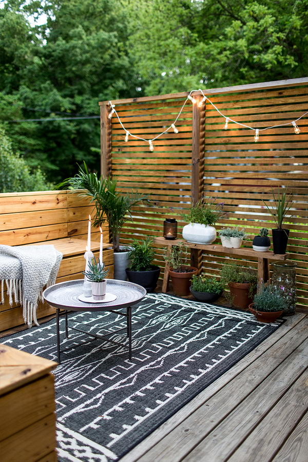 Wood Slat Patio
