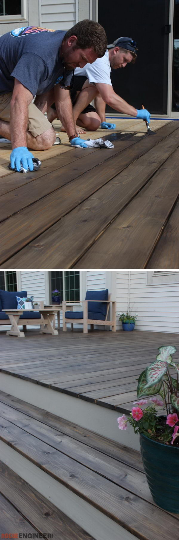 Floating Wood Deck.
