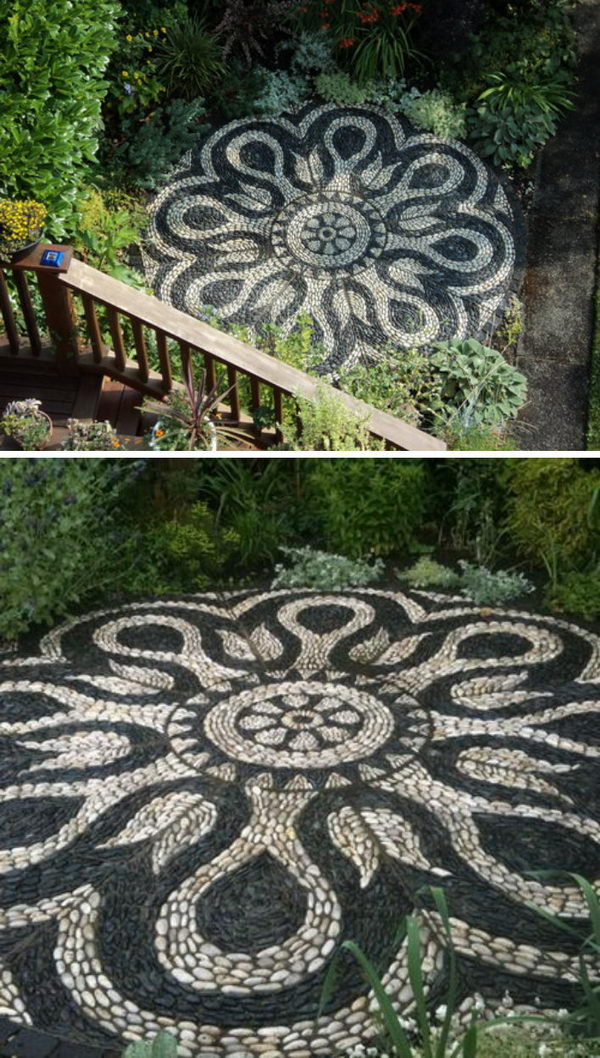 Pebble Mosaic Patio.