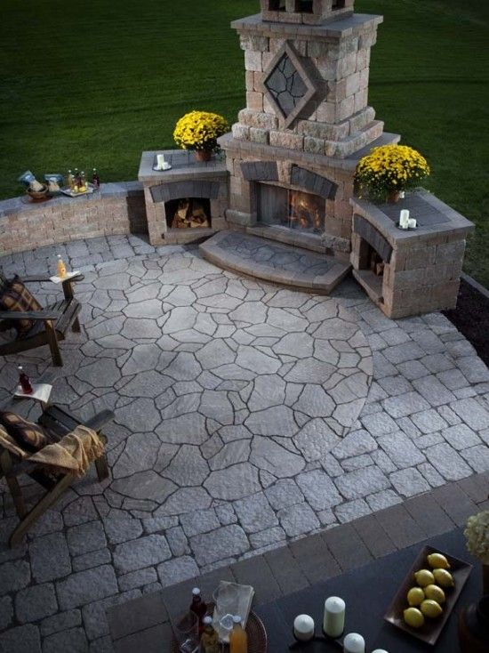 Brick Pavers And Large Stepping Stones.