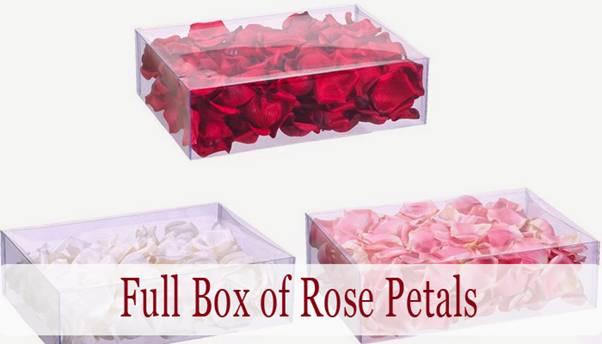 Valentine's Day Romantic DIY Arrangement with Rose Petals.