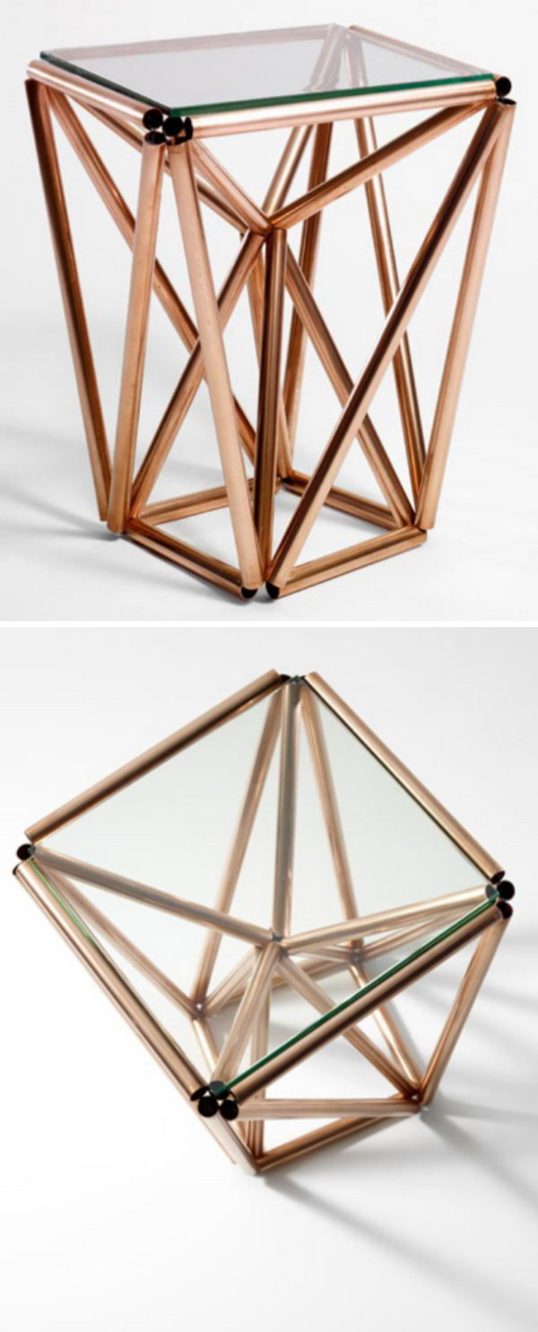 Copper Pipe Table.
