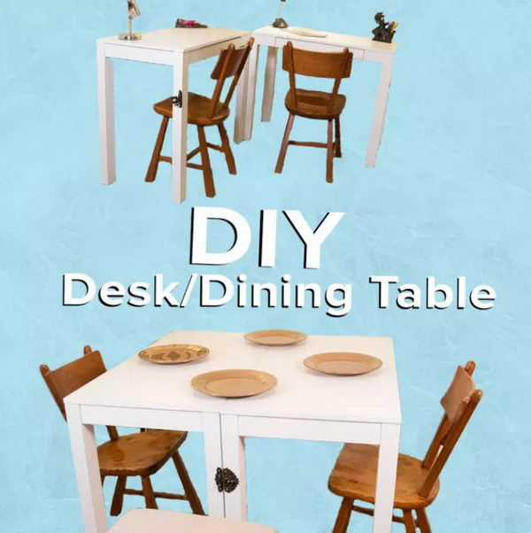 DIY Convertible Dining Table Perfect For Small Apartment.