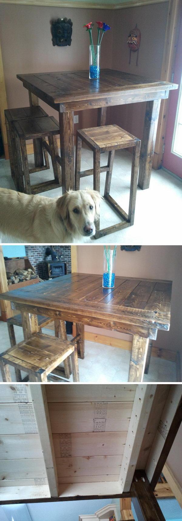 DIY Pub Style Table.