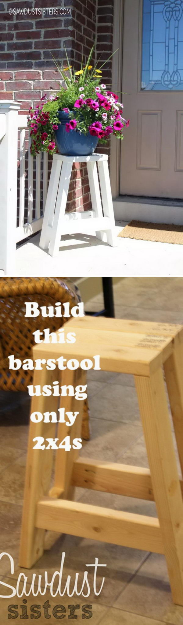 DIY Barstool Using Only 2x4s.