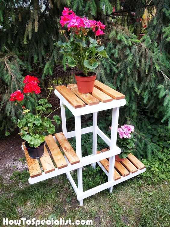 DIY Tiered Plant Stand.