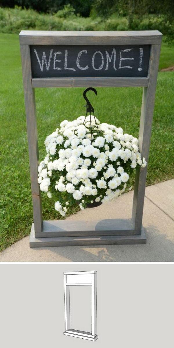 DIY Hanging Planter .