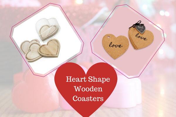 Heart Shape Wooden Coasters