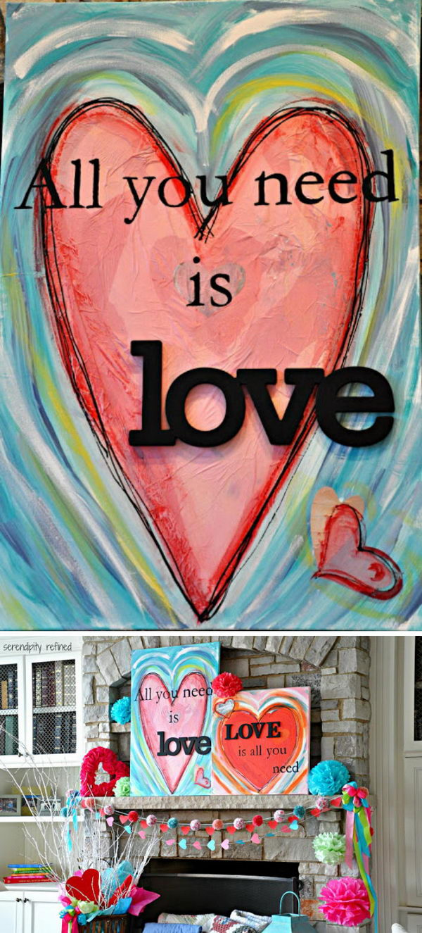Valentines Day Heart Paintings.