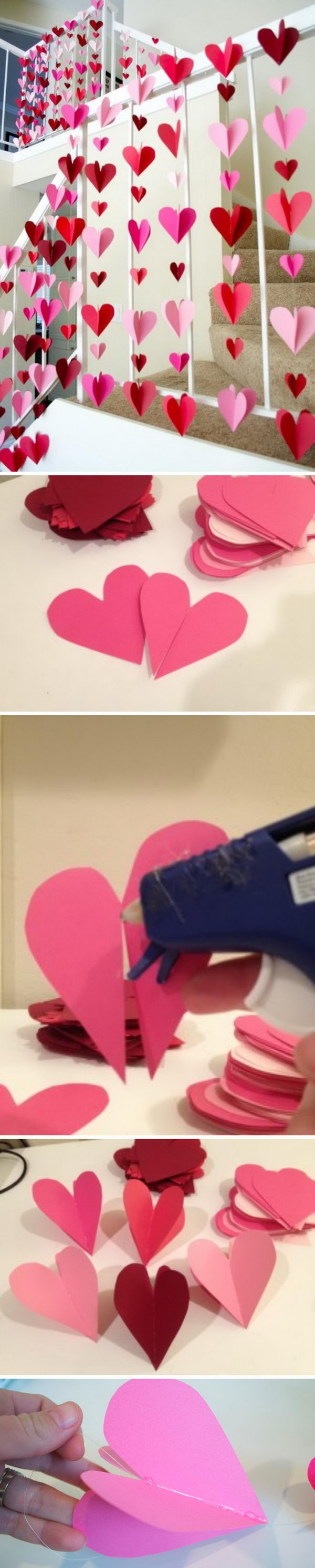 Paper Heart Backdrop.