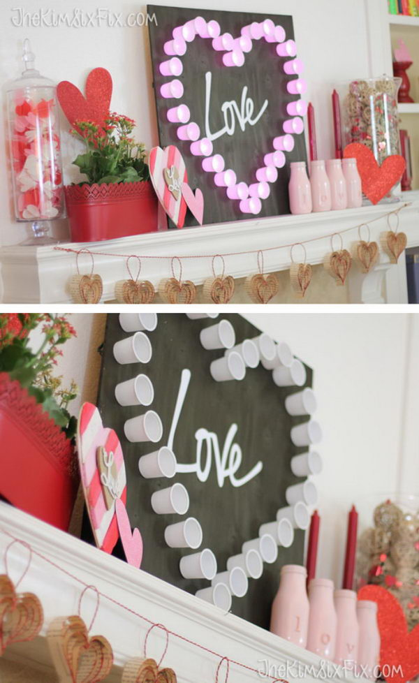 DIY K Cup Marquee Light.