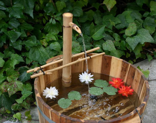 Bamboo Bucket Fountain.