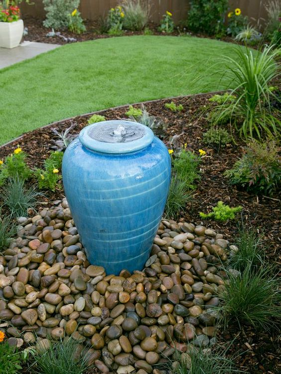 Blue Urn Water Feature.