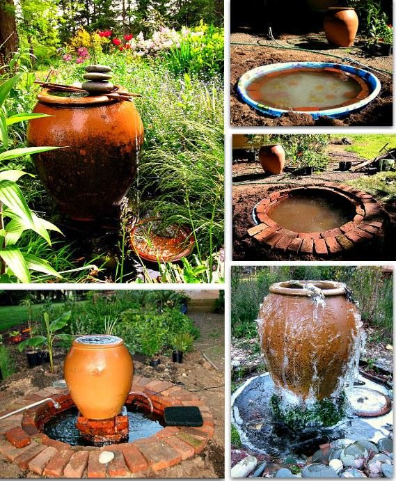 DIY Overflowing Pot Water Feature.