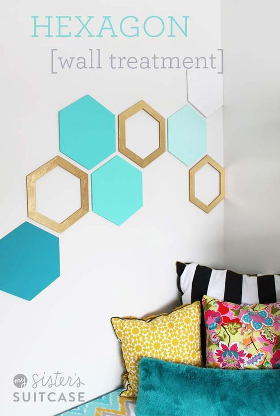 DIY Simple Hexagon Wall Art.