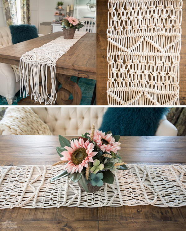 DIY Macrame Table Runner Tutorial.