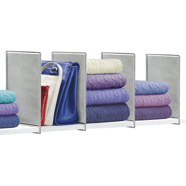 These Dividers Will Make Your Shelves Much Neater.