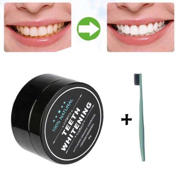 The Charcoal Powder That Whitens Your Teeth.