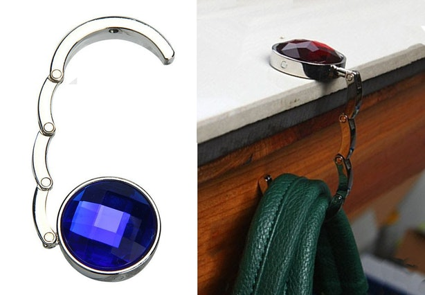 The Jeweled Hook That Can Hold Your Bag.