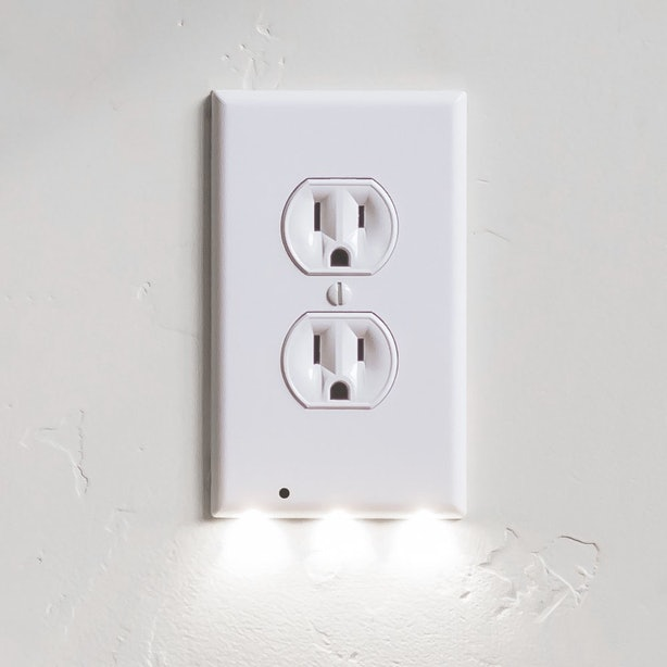 These Outlet Covers With Motion Sensor LEDs.