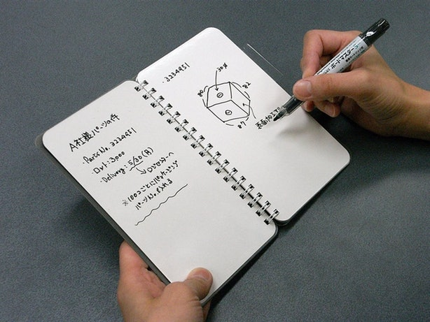 This Brilliant Notebook With Reusable Pages.