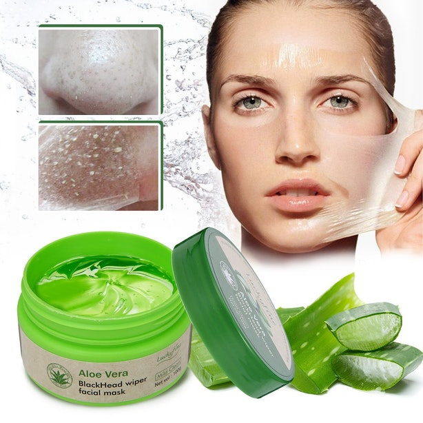 This Peel Off Aloe Mask That Treats Acne .
